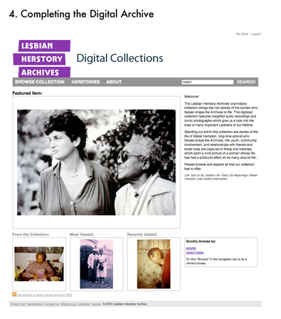 Completing the Digital Archive